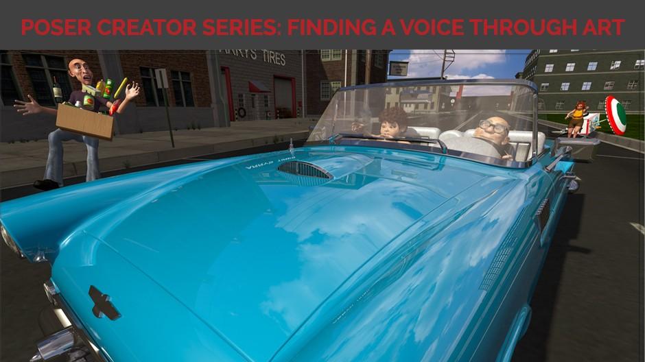 Poser Creator Series: Finding a voice through art