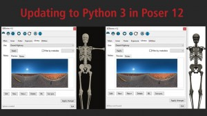 Updating to Python 3 in Poser 12