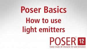 Poser Basics: How to use light emitters in Poser
