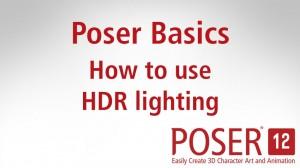 Poser Basics: How to use HDR lighting