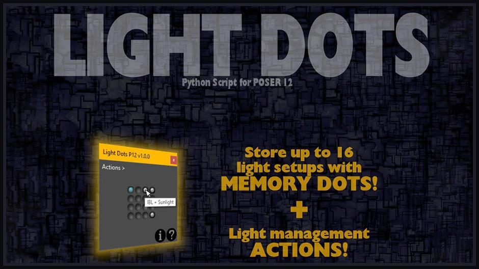 Light Dots for Poser 12